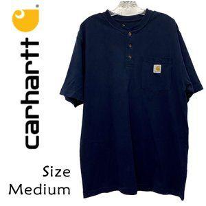 Carhartt Men's Navy Henley TShirt Size Medium